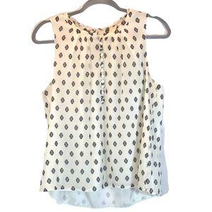 J. Crew size 8 white silk A-line sleeveless blouse